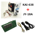 Plastic front plate KAI-638 CPU coin selector acceptor with JY-18A USB timer board for USB devices