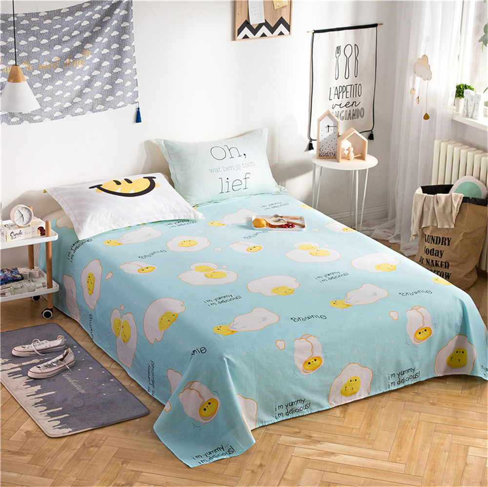 Wonderbaar Stripes Bedding Sanding Flat Bed Sheet Single Double Bed Flat GZ-14