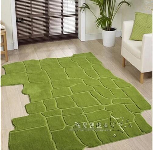 Landschaft Grün Unregelmäßige Teppich wohnzimmer, Couchtisch, Sofa ...