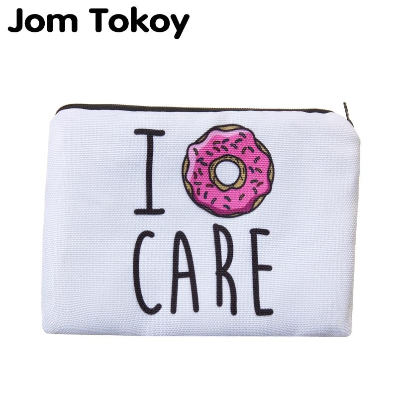 Jom Tokoy Portable Type Make Up Bags Cosmetic Case Maleta De Maquiagem Bags Storage Travel Makeup Bag Brand Pencil Case