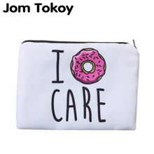 цена на Jom Tokoy Portable Type Make up Bags Cosmetic Case Maleta de Maquiagem Bags Storage Travel Makeup Bag Brand Pencil case