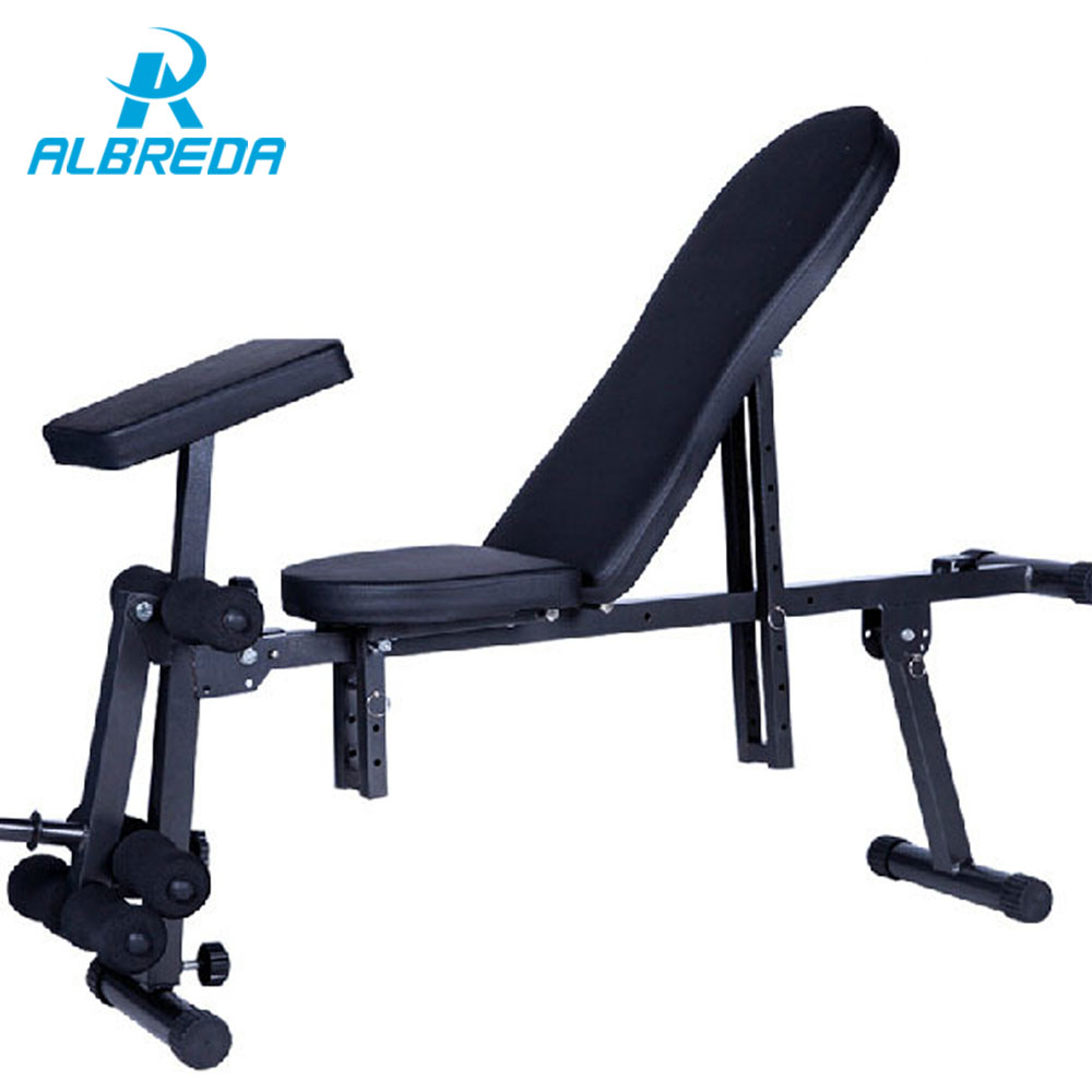 ALBREDA Sit Up Bench fitness equipment for home abdominal waist trainer bench women/men ab mat the exercise machine For a waist цена 2017