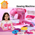 Minitudou Simulation Furniture Pretend Play Plastic Sewing Machine Miniatures Set Kids Girl Toys Can Make Doll Clothes