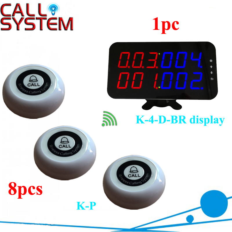 K-4-D-BR+K-P 1+8 Restaurant guest paging call system
