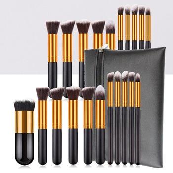 11/10pcs cheapest makeup brushes set foundation cosmetic kabuki blending blush powder contour brush eyeshadow makeup tools