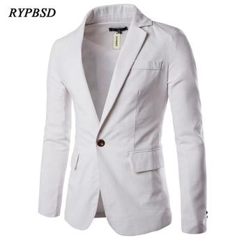 Man Blazer Casual Suit Jacket Spring Business Men Blazer Simple Casual Suit Jacket Solid Color Single Button Suit Men Blazer фото