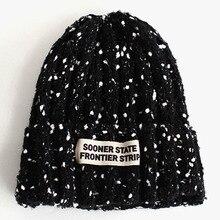 2016 Cap Winter Hats for Women Beanies Knitted Hat Adult Dot Letter Unisex Beard Fur Pom Pom Tuque Femme Balaclava War Bonnet