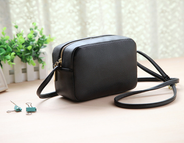 7e0d3b328557 2015 hot new women black shoulder diagonal small square bag phone package  coin pocket casual