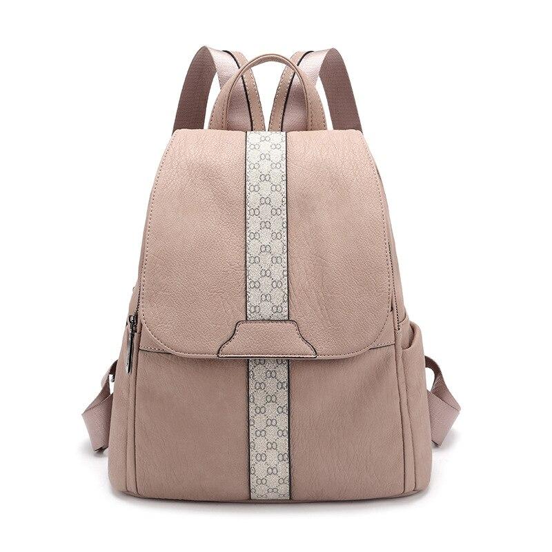 Vintage Leather Backpacks Female Travel Shoulder Bag Mochilas Women Backpack Large Capacity Rucksacks For Girls Dayback