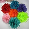 6colors for your choose 24pcs/lot  4'' silk wrinkle flower WITHOUT hair clip and brooch pin