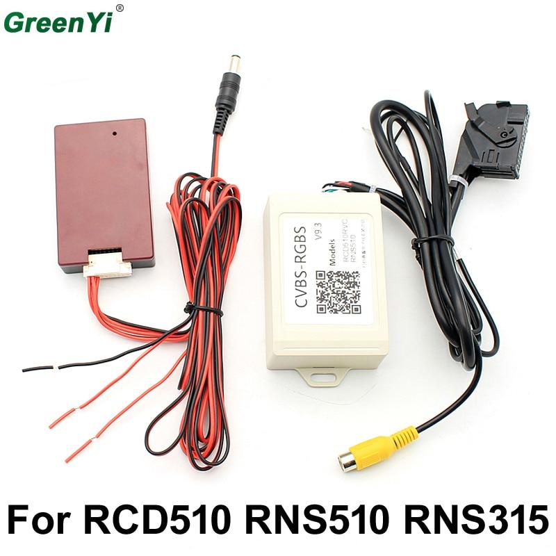 RGB BOX Adapter V9.3 Aftermarket Rear View Camera CVBS / AV to RGB Converter Adapter For VW Volkswagen RCD 510 RNS 510 RNS 315
