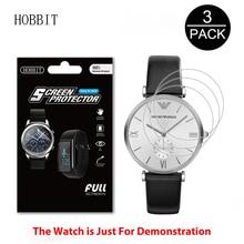 02434f0d9985 3 Pack para Emporio Armani AR1674 AR1675 AR1676 AR1614 AR1682 AR1683 AR1670  reloj película LCD cobertura completa suave TPU pant.