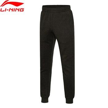 Pantalones deportivos li-ning para hombre, pantalones de sudor, 70% algodón, 30% poliéster, pantalones deportivos con forro de comodidad AKLM401 MKY309