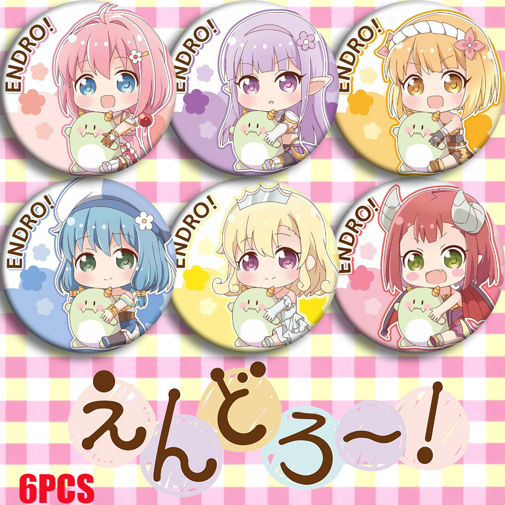 Japan Anime ENDRO! Endoro~! Yuusha Seira Fai Mei Cosplay Bedge Cartoon Collect Bags Badges For Backpack Button Brooch Pin Gifts