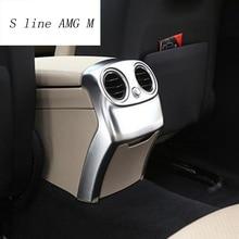 Автомобиль Стайлинг для Mercedes Benz C Class W205 C180 C200 центр подлокотник сзади для хранения Панель Air выход декоративная рамка Крышка отделка