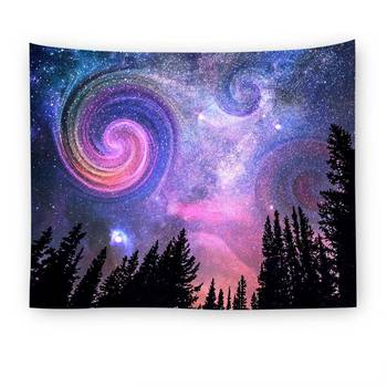 Lannidaa Starry Night Tapestry Fo Wall Hanging Home Decor Wall Tapestry Tree Forest Blanket Table Cloth Polyester Door Curtain