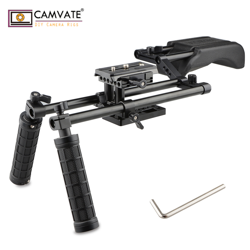 CAMVATE Professional DSLR Video Camera Rigs Supports C1750 camera photography accessories