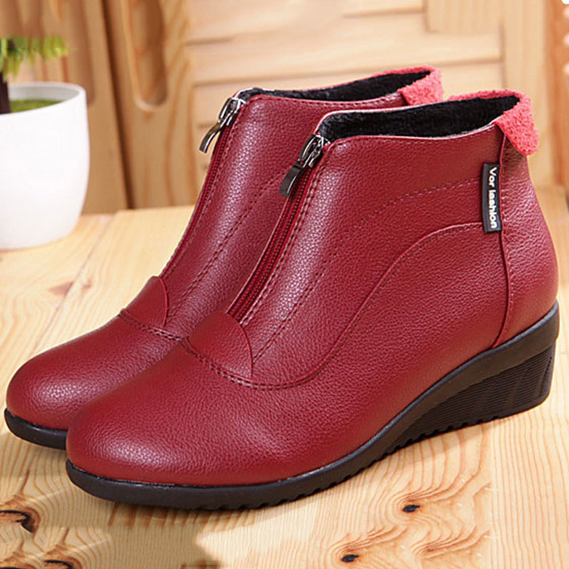 Talón Alta 2017 Las Botines blanco Zapatos Oculto Mujeres Negro rojo Calidad De Invierno Botas YYwpqFz