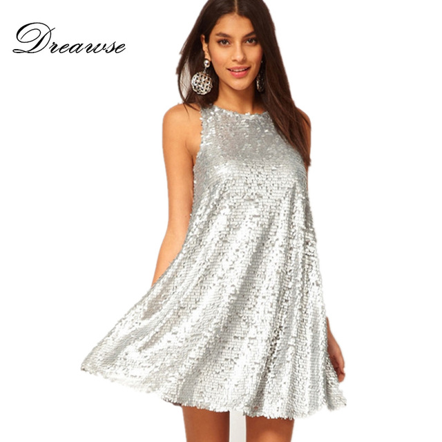 Silver Plus Size Dresses
