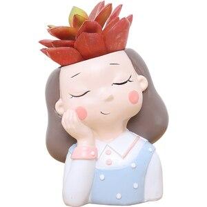 Image 5 - Roogo 植木鉢装飾多肉植物ポットウェディング誕生日プレゼントバルコニー装飾家の装飾アクセサリー