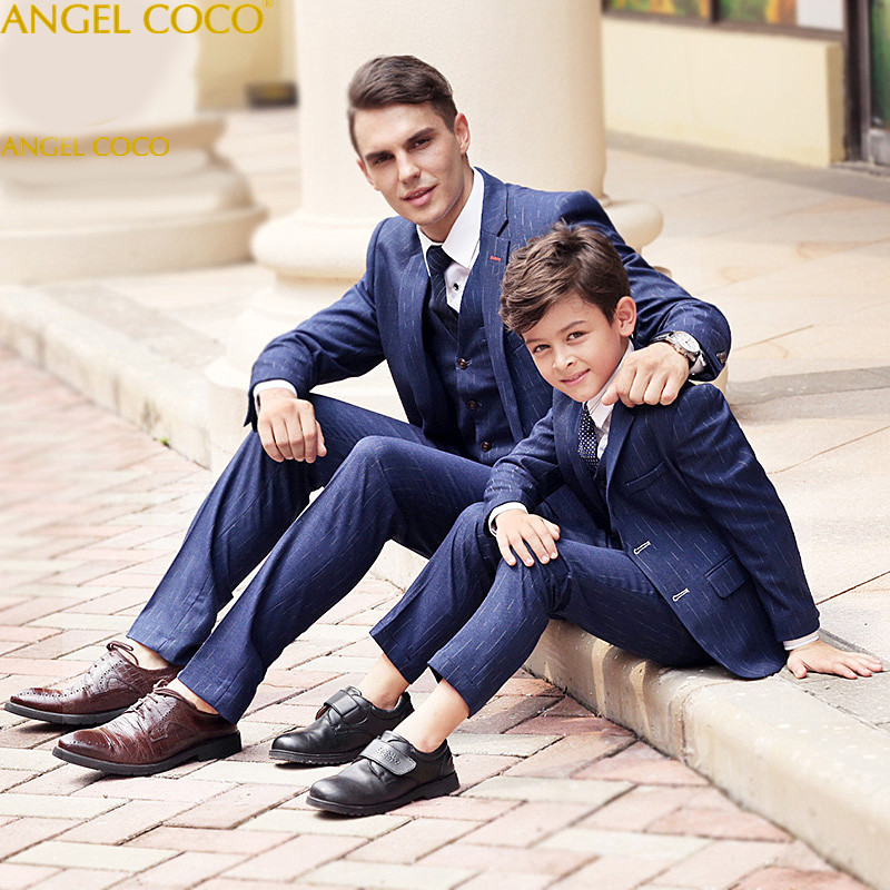 Family Matching Outfits Father Son Matching Clothes Boys Suits For Weddings Costume Enfant Garcon Mariage Terno Masculino