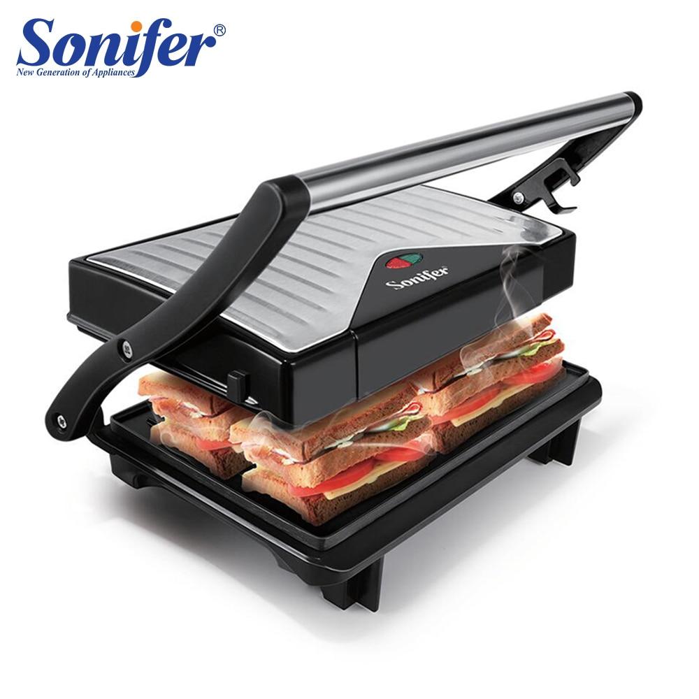 Gril électrique 750 W voyage Mini Barbecue gril électrique plaque chauffante sans fumée poêle à viande grillée grille électrique Sonifer