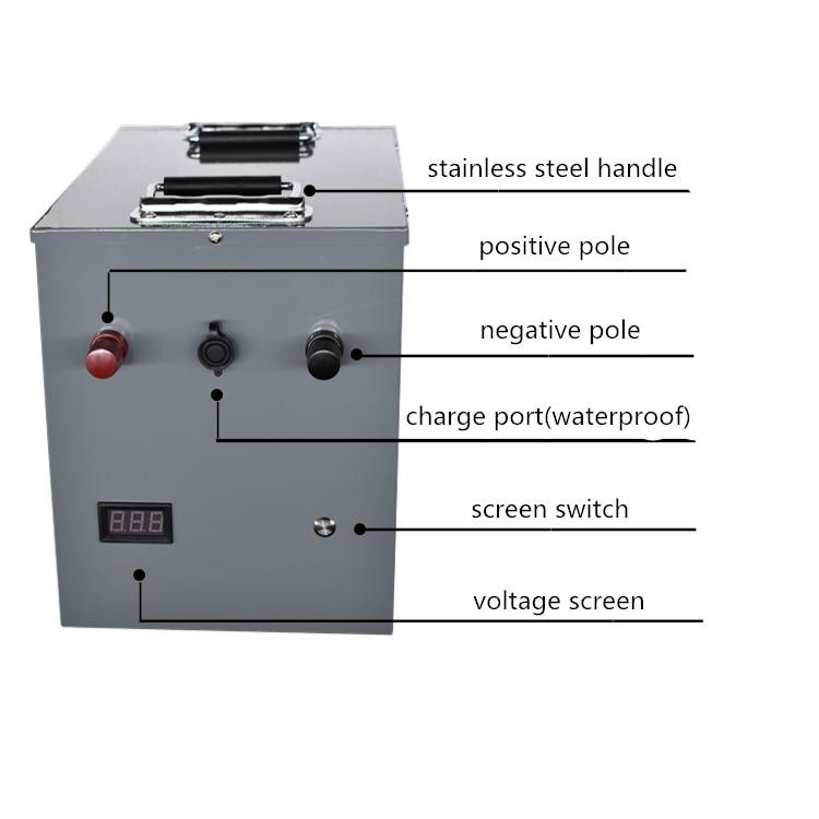 Batterie d'ion de li de phosphate de fer de Lithium de la puissance élevée 12V 24V 200AH 300AH 400AH pour des camping-cars/secours extérieur/source d'énergie de pêche