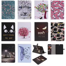 цена на Luxury Horse Print Leather Magnetic Flip Wallet Tablet Case Cover Bag Coque Funda For Samsung Galaxy Tab S2 9.7