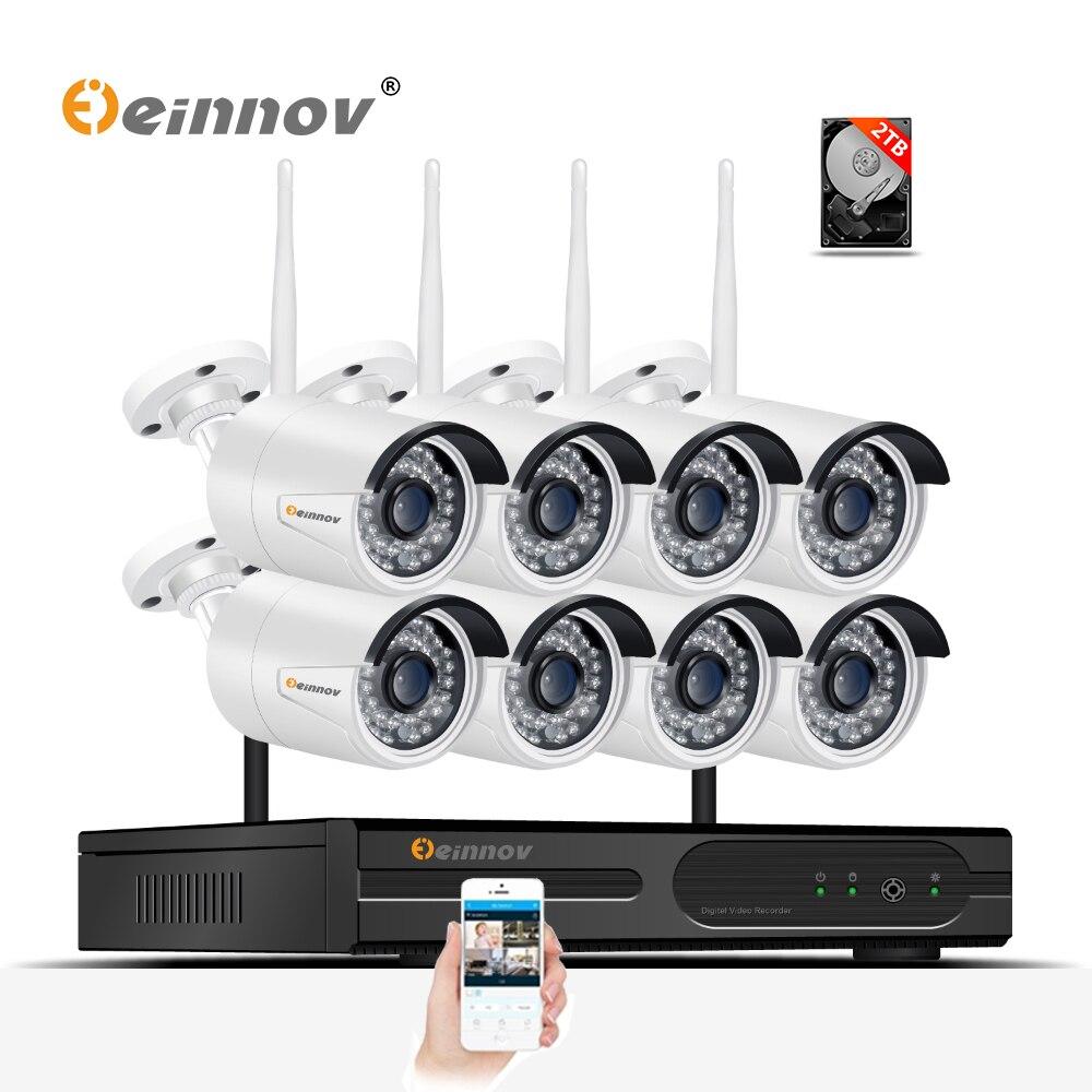 einnov 8ch cctv wireless home security camera system 960p wifi video surveillance kit bvr set hd. Black Bedroom Furniture Sets. Home Design Ideas