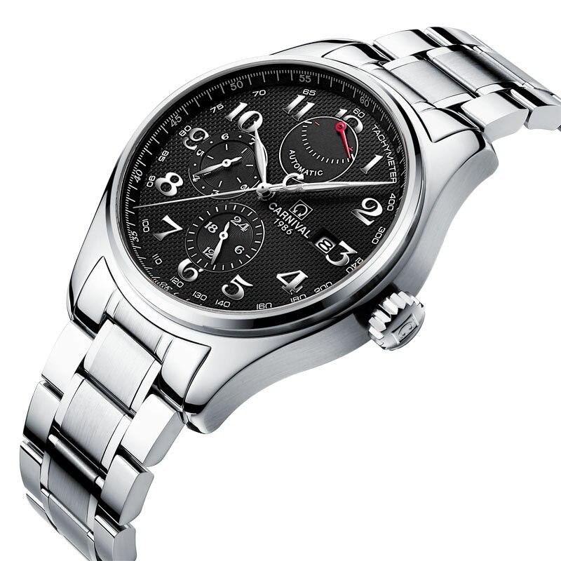 Швейцария карнавал бренд класса люкс для мужчин часы импорт механические часы для мужчин Multi function мощность хранения hombre relogio C H689AG 2