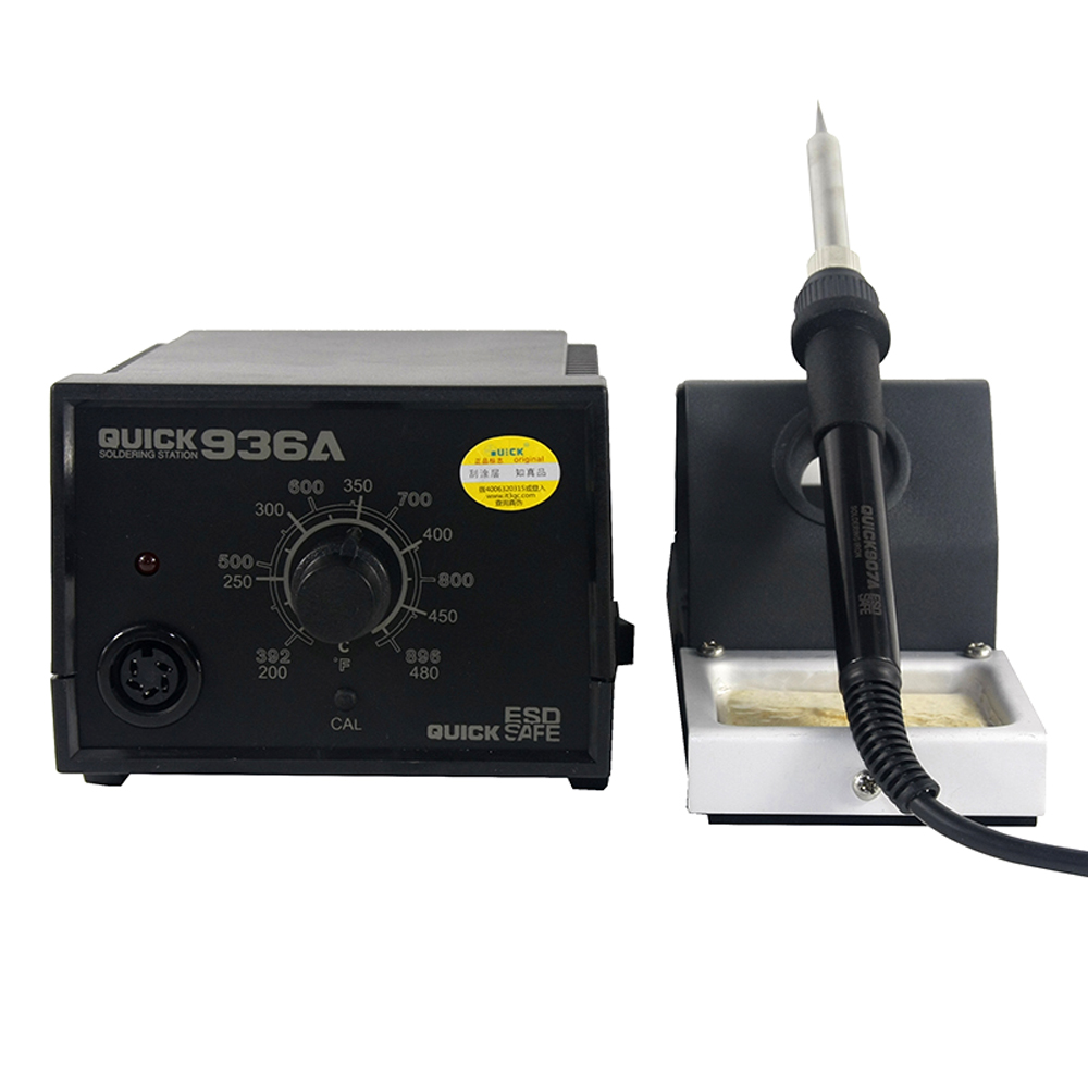 QUICK <font><b>936A</b></font> Adjustable Electricity Soldering Iron 60W Constant Temperature Soldering Station For SMD BGA Welding Rework Station image