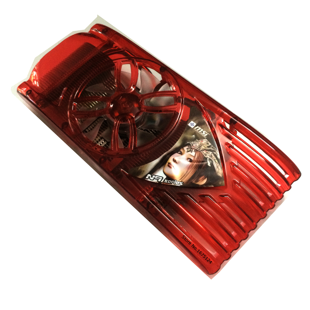 Computer Radiator Cooler Fan Heatsink For MSI 9600GSO N9600 9800GT VGA Card Fan Graphics Video GPU Cooling universal computer gpu video graphics card water cooling cooler copper radiator transparent with led hole spacing 53 61mm