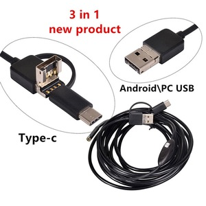 Image 4 - VicTsing 5m 7mm Endoscope Camera Wifi 3 in 1 Android Type C USB Borescope 6 LED Snake Camera For Mac OS Windows Car Repair Tools