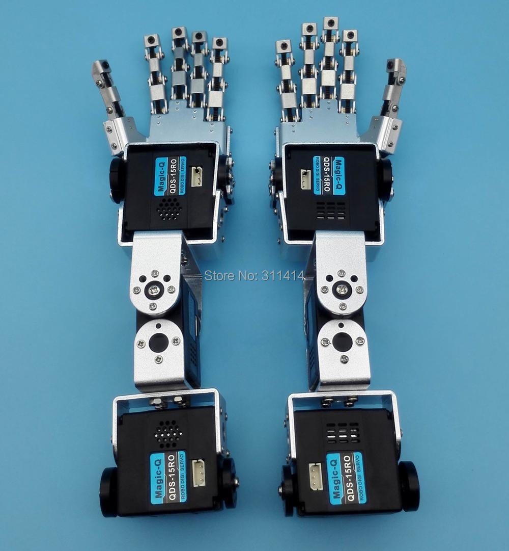 Arm-Assembled Humanoid Manipulator Right-Hand-Arm Robotics DIY Five-Fingers with