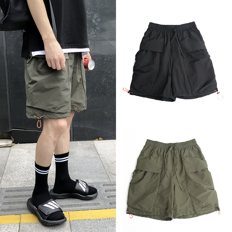 2019 Summer Korean Version Of The Loose Men's Fashion Trend Big Pocket Sports Running Casual   Shorts   Streetwear