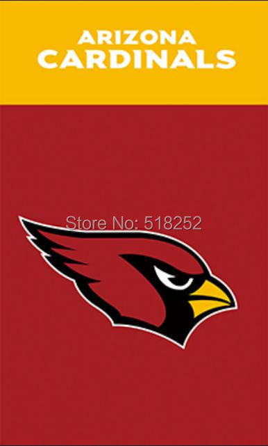 Arizona Cardinals Wordmark Vertical Flag 3x5 FT 150X90CM Banner 100D Polyester Custom flag grommets 6038,free shipping