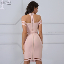 Adyce New Women Bandage Dress Celebrity Evening Party Summer Dress 2018 Royal blue Apricot Hollow Out Bodycon Dresses Vestidos