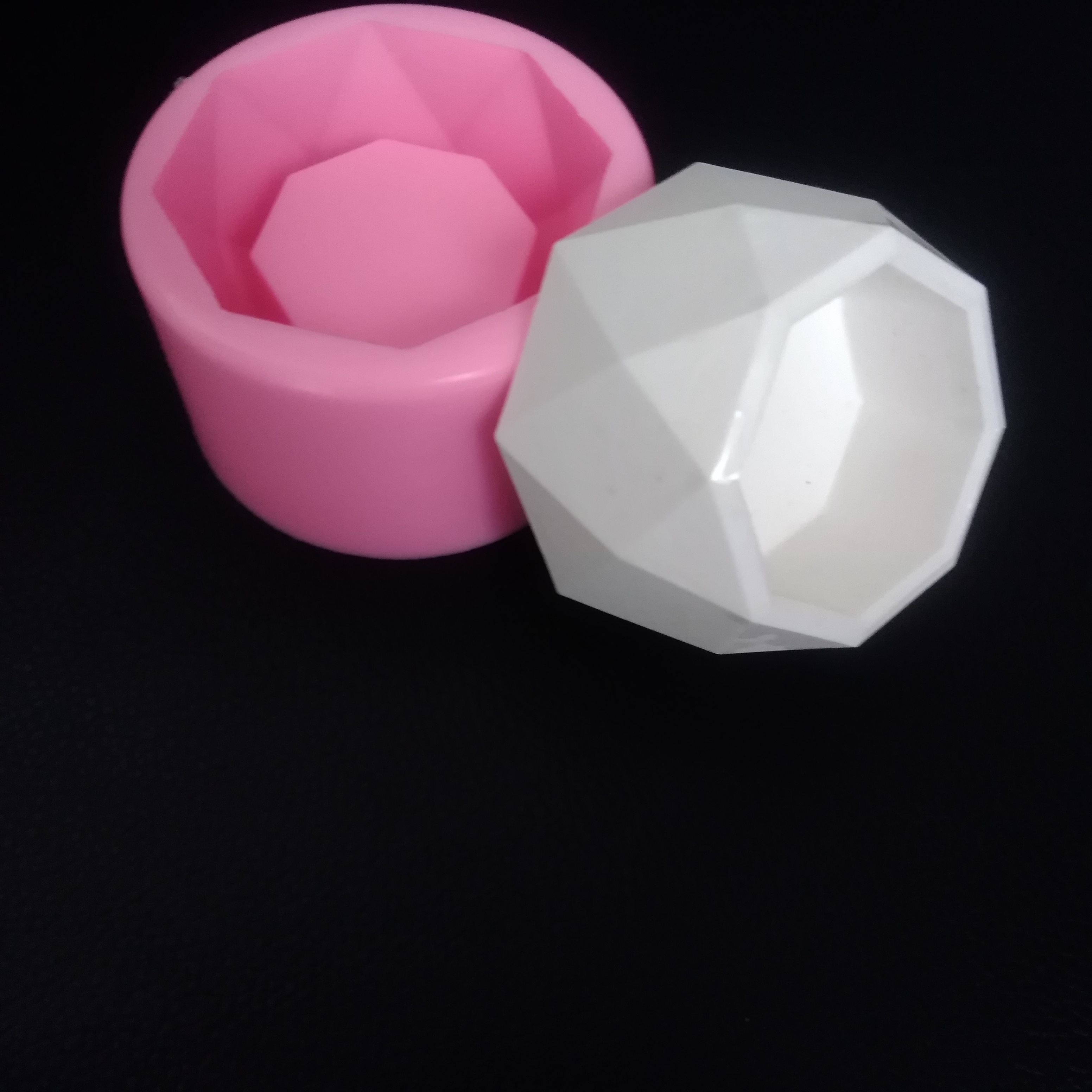 Aromatic Plaster Pot Candle Holder Silicone Molds For Concrete DIY Decorative Garden Planter Small Flowerpot Cement Mould