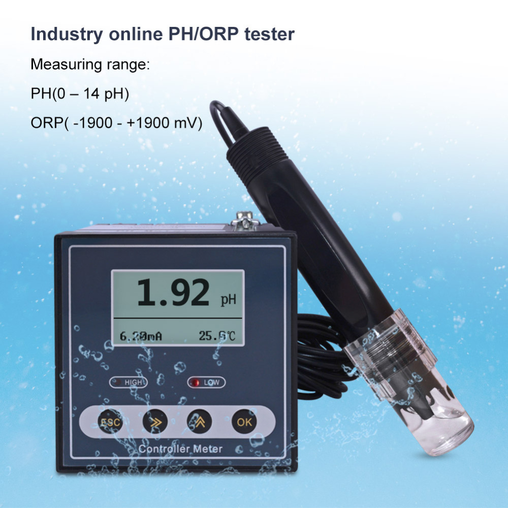 Measurement & Analysis Instruments Provided New Online Ph-110 Digital Industrial Ph /orp Meter Sensor Electrode Ph Probe For Sewage Detection,dosing Control,acid-base Ratio To Help Digest Greasy Food