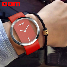 hot deal buy dom womens watches top brand luxury fashion casual quartz watch women unique stylish hollow dial leather sport lady wristwatches