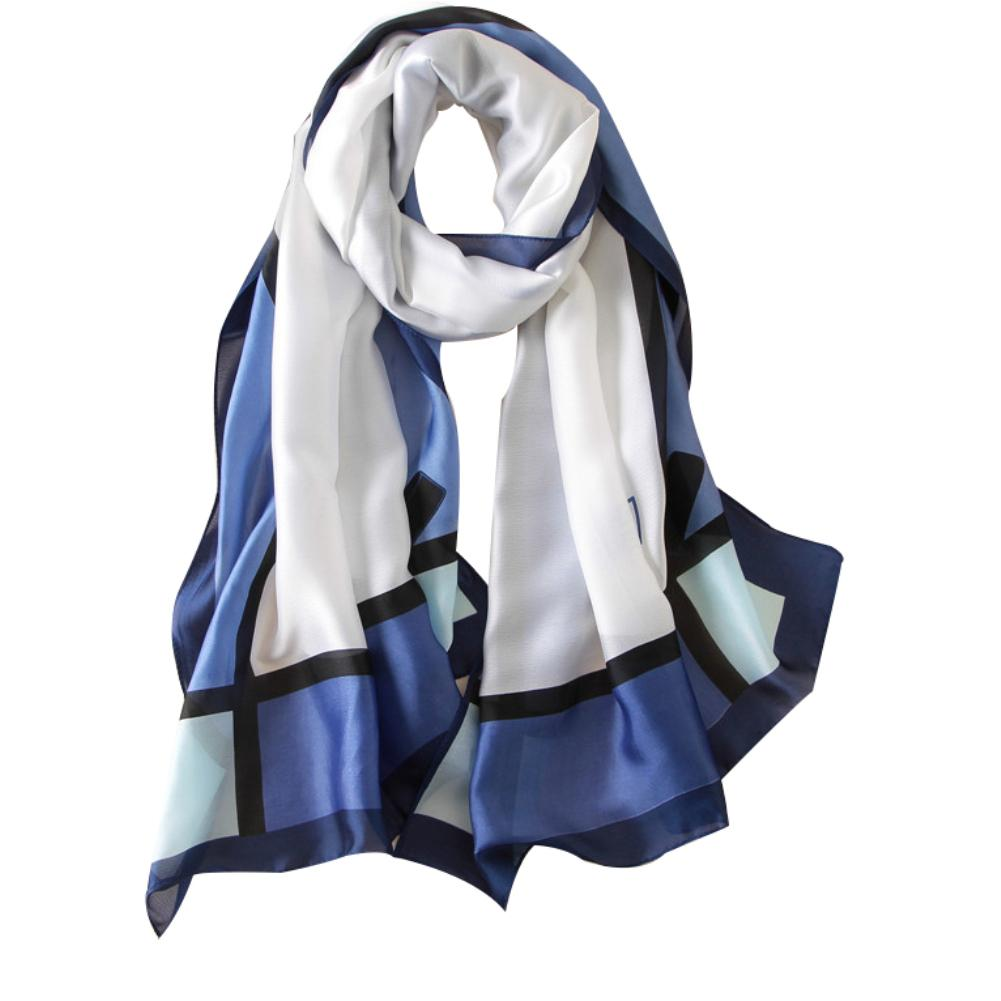 Fashion Women Bowknot Long Silk Imitation Scarf Shawl Soft Wrap Beach Towel Gift