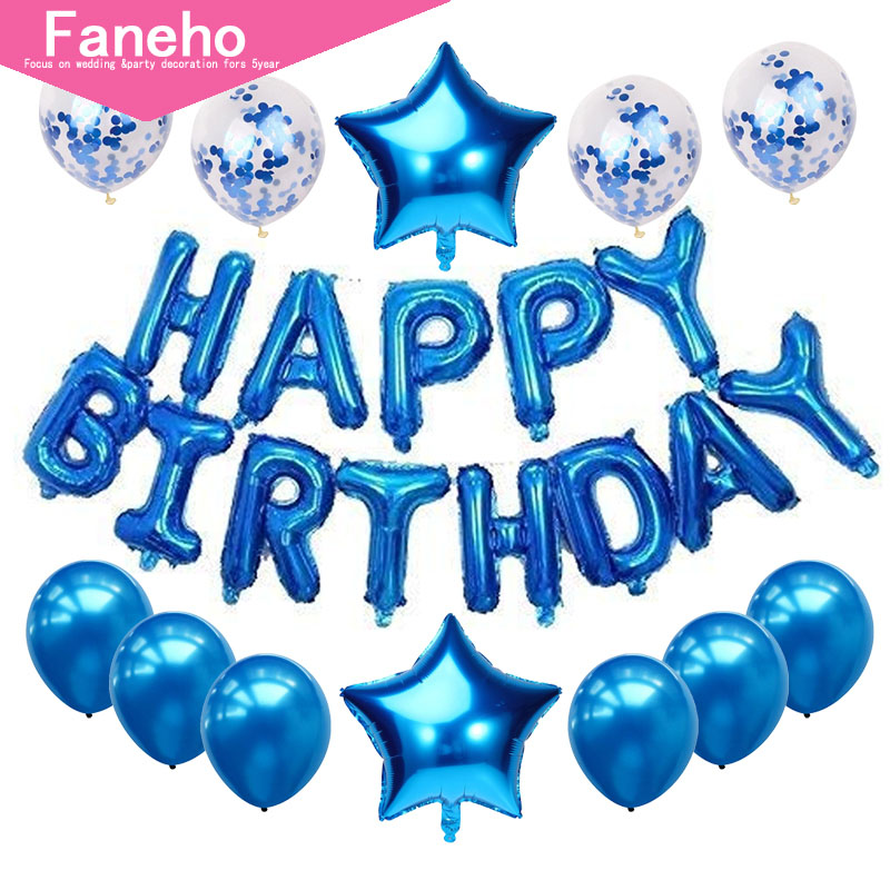 16 Inch Letter Happy Birthday Balloon Birthday Party Decoration Kids Event Supplies Helum Balloons Easy And Simple To Handle