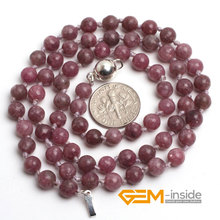 purple tourmaline stone necklace DIY necklace Birthstone of October Symbol of joy comfort and fortune free shipping