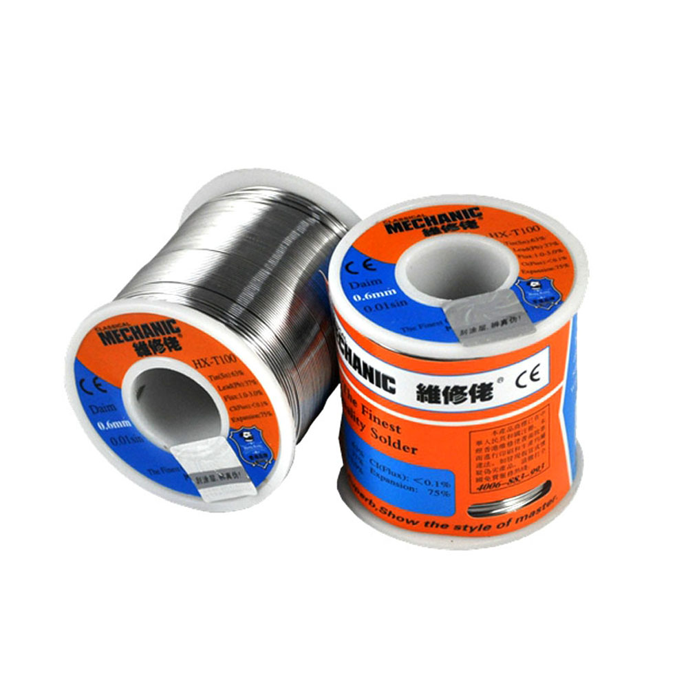 MÉCANICIEN 500g Soudure Soie basse Température Colophane Flux 0.5 0.6 0.8 1.0mm Faible Meltingl Point Souder Fil À Souder d'étain De Soudure BGA