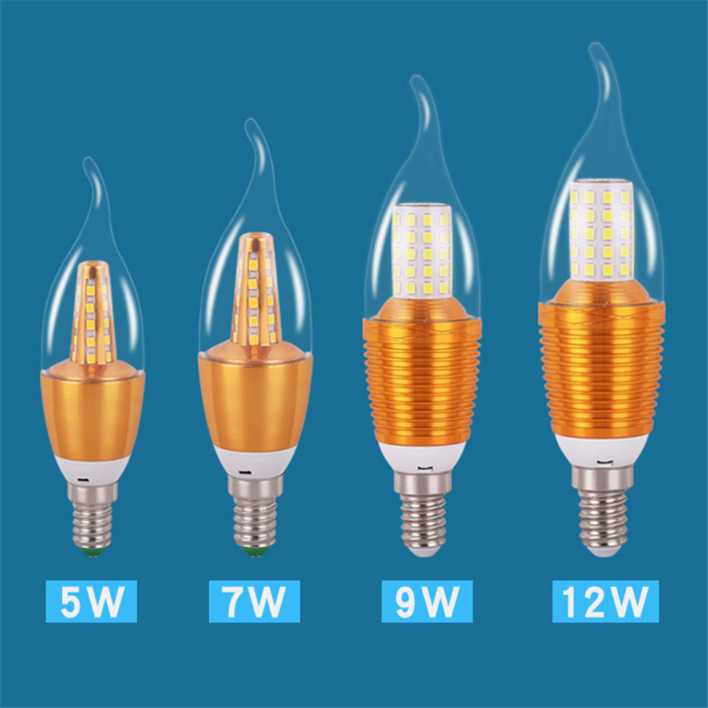 5w 7w 9w 12w 220v Bullet Bulb Led Yellow White Candle E14 Energy Saving Light Bulb Factory Wholesale For Table Lamp Drip-Dry Led Bulbs & Tubes