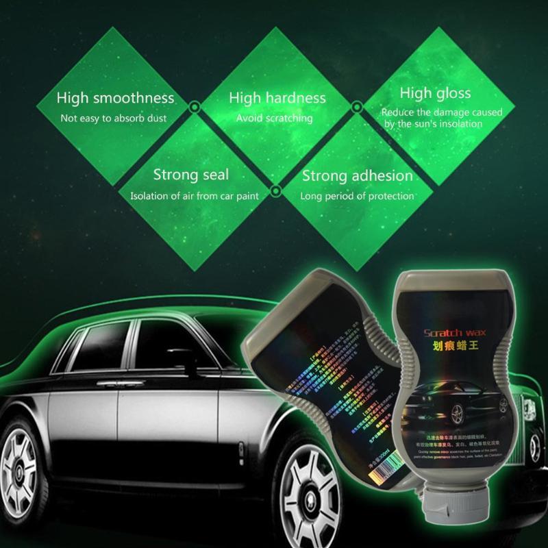 300mL Car Vehicle Care Paint Polishing Wax Auto Surface Protection Scratch Repair Gloss Polish Wax with Sponge