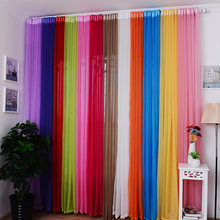 1 piece Punching Terylene Tulle Sheer Voile Gauze Curtains Window Screening for Kitchen Living Room Hotel Bedroom Decorative(China)