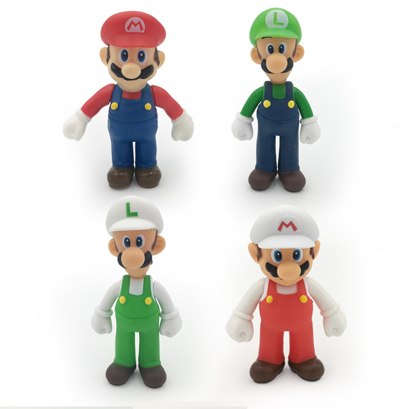Action & Toy Figures 18 Styles 8-15cm Anime Super Mario Bros Bowser Koopa Yoshi Mario Maker Luigi Mushroom Peach Wario Pvc Figure Toys Children Gift