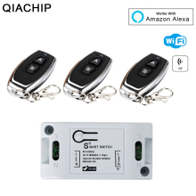 цены WiFi Wireless Smart Light Switch 433MHz 10A 2200W 1 CH RF Receiver Module + 433 Mhz RF Transmitter Remote Control Switch
