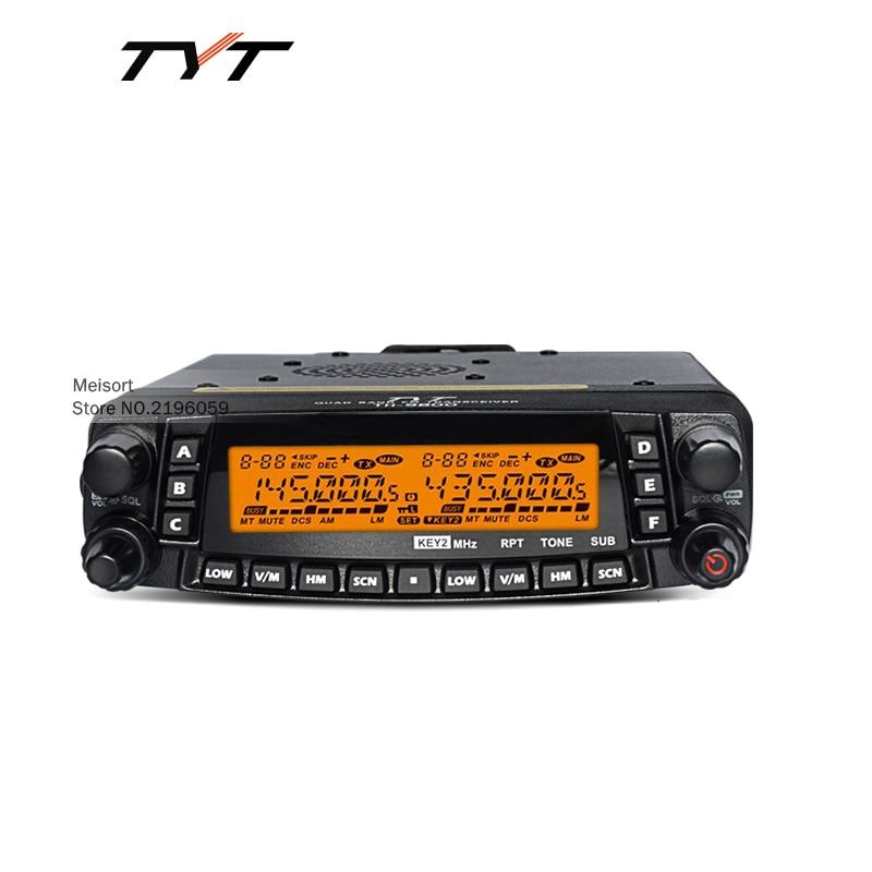 imágenes para Marca tyt th9800 comunicación hf transceptor de radio móvil del coche automotriz estación de radio de jamón cb de radio de dos vías walkie talkie 50 km